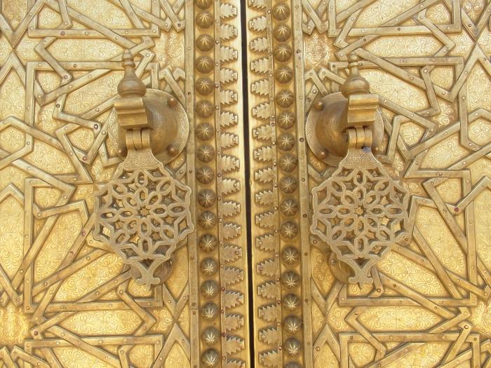 Brass door Fes